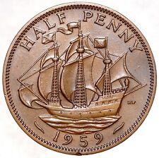 GREAT BRITAIN 1/2 Penny Half Penny 1959 №5536
