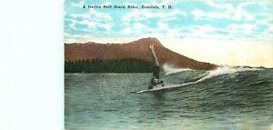 SURFING UPSIDE DOWN, HONOLULU, c 1915, HAWAII, VINTAGE POSTCARD