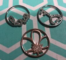 Authentic Origami Owl Lot Of 3 Large Window Plates