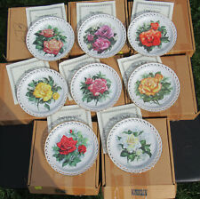 Hamilton Collector Plate Roses Of The Year Rose Garden set x 8 * Coa Box Sweaney