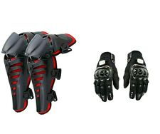 Combo Of FOX Raptor Knee Guard RED + Probiker FULL Gloves BLACK COLOUR ALL SIZES