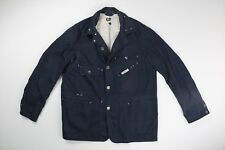 Engineered Garments Men Blue Cotton Coverall Explorer Jacket Size Large