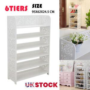 (95X62X24.5CM)6 Tiers Shoe Rack Storage Stand Display Cabinet Bathroom Organiser