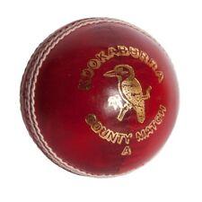 Kookaburra County Match Red Hand Stitched Waxed 4 Layer Club Cricket Ball *SALE*