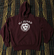 Vintage 80s Champion Harvard College Hoodie Sweatshirt USA L