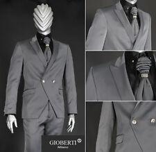 *109* OUTLET-SALE 5-teiliger Designer CutAway Hochzeitsanzug Anzug in Grau Gr.44