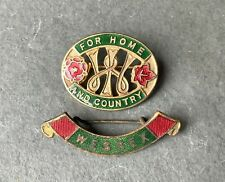 More details for vintage wi womens institute home & country & wessex pin badges w.i federation