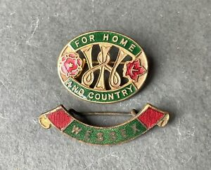 Vintage WI Womens Institute Home & Country & Wessex Pin badges W.I Federation