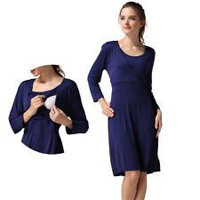 Long Sleeve Maternity Dress Nursing Breastfeeding Dresses For Pregnant Women