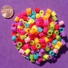 200 X Arruga granos de poni de varios colores, Llaveros, Craft, fabricación de joyas