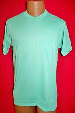 Vintage BLANK Sea Green 50/50 POCKET TEE T-SHIRT M/L CREW NECK Thin