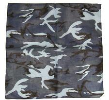 """Wholesale Lot 12 (1 Dozen 22""""x22"""" Woodland Camo Camouflage  Blue Black Bandana"""