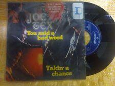 DISCO 45 GIRI JOE TEX - YOU SAID A BAD WORD/TAKIN'A CHANCE - MERCURY 1972 VG-/VG