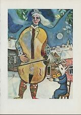 "1912/"" by MARC CHAGALL COLOR Art Plate Lithograph 1963 Vintage /""GOLGOTHA"