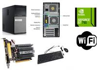 Dell Gaming Tower Computer PC Nvidia GT 730 4GB, i5, WiFi, 16GB 256GB SSD + 2TB
