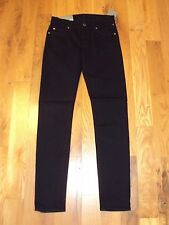 NWT Seven 7 for all Mankind BLACK SKINNY Jeans The Slim Cigarette Womens 23