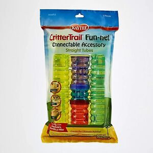 Kaytee CritterTrail Fun-Nels Connectable Accessory Straight Tubes 5 pieces
