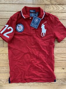 Polo Shirt Ralph Lauren 2012 USA Olympic London Youth Medium 10-12 New Tags