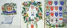 HERALDRY & CALLIGRAPHY SCOTTISH CLANS INK/W/COL ENGLISH SCHOOL C1850