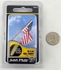 New listing Us Flag Wall Mount Just Plug Lighting System (Large) - Woodland Scenics #Jp5955