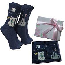 Calcetines Mujer Caja Regalo Lobos Oso Polar Cumpleaños Ideas Box Moda Chica 100