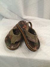 EUC Realtree Baby Toddler Camo Flip Flops With Straps On Heel Size  US S (5/6)