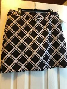 NWT Ladies EP PRO TOBACCO BROWN BLACK & WHITE Golf Skort - size 12 THE SAVOY