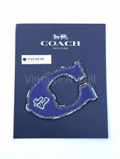 Coach New York C Premium Purple Blue Leather Bag Phone Embellish Glitter Sticker