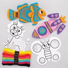 Cross Stitch Kids CRAFT Beginners Colour & Sew Gift VALUE PACK FUN DESIGNS