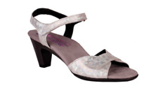 Helle Comfort Eudora Silver Wedge Sandal Women's sizes 37-41 NEW!!!