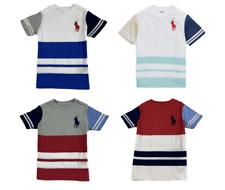 GENUINE Polo Ralph Lauren Kids Multi Colour Cotton T Shirt 'Big Pony' Age 2-18