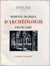 Mémento pratique d'archéologie française - Vincent Flipo