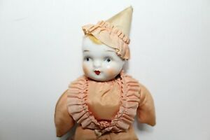 Antique German Porcelain Doll - Stuffed body with Porcelain Head Doll