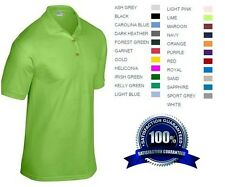 4 Custom Embroidered * FREE LOGO Dry Blend POLO SHIRTS Embroidery Personalized