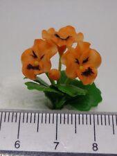 Escala 1:12 Flores pensamiento (naranja) Casa De Muñecas Miniaturas Flores, Jardín