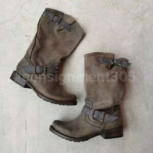 Freebird by Steven Prince Distressed Engineer / Moto Leather Boots sz 8 new