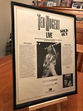 "BIG 11X14 FRAMED TED NUGENT ""MISS DANGEROUS"" LP CD PROMO AD w/ 1986 TOUR DATES!"