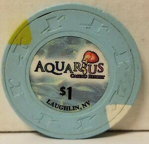 $1 Aquarius Casino Chip Laughlin Nevada $3.85 flat s&h