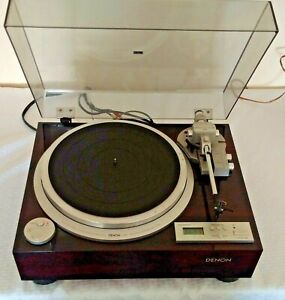 Denon DP-59L Record Player Turntable Direct Drive Auto Lift Dust Lid Power Parts