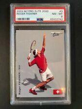 2003 Netpro Elite Tennis Roger Federer RC Rookie Card #E3 MINT PSA 8