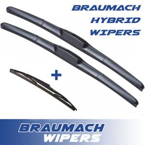 Wiper Blades Hybrid for Hyundai Getz w/ TB HATCH 2002-2005 FRONT PAIR & REAR