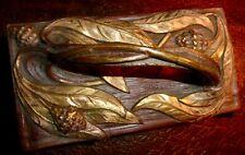 Tampon porte buvard en bronze signé HUYGHENS art nouveau jugendstil