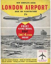 LONDON AIRPORT COMPLETE GUIDE BEA BOAC COMET VANGUARD TU-104 VISCOUNT AER LINGUS