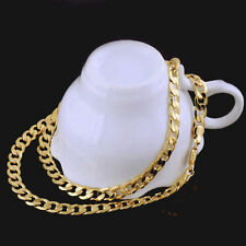 24k Carat Solid Gold filled Mens Necklace Chain Birthday Valentine Gift valuable
