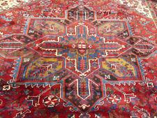 "8'5""x10' Handmade wool Authentic Antique Herizz Oriental Vintage area rug"