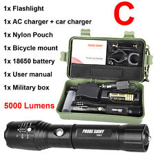 G700 X800 CREE XM-L2 T6 LED Zoom Tactical Military Flashlight Super Torch Lot