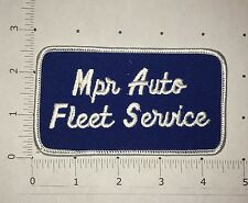 Mpr Auto Fleet Service Patch - Vintage