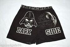Mens Underwear STAR WARS DARK SIDE Knit Boxers BLACK Darth Vader SIZE S 28-30