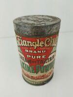 Vintage Triangle Club Brand Cream of Tartar Baking Powder Tin w/ Lid 1 lbs.