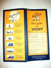 MICHELIN PLAN GUIDE CARTE VICHY FRANCE, 1943 RARE avec répertoire des rues.